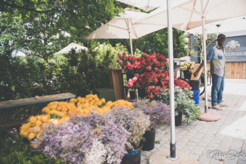 Flower vendor Lourensford Estate Market Fynbos